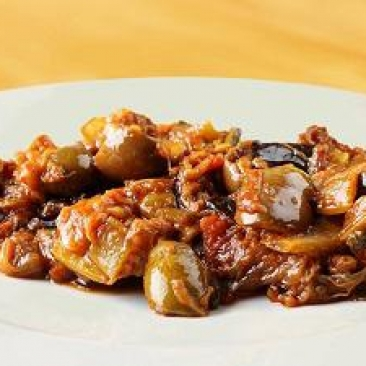 Sicilian caponata with red peppers